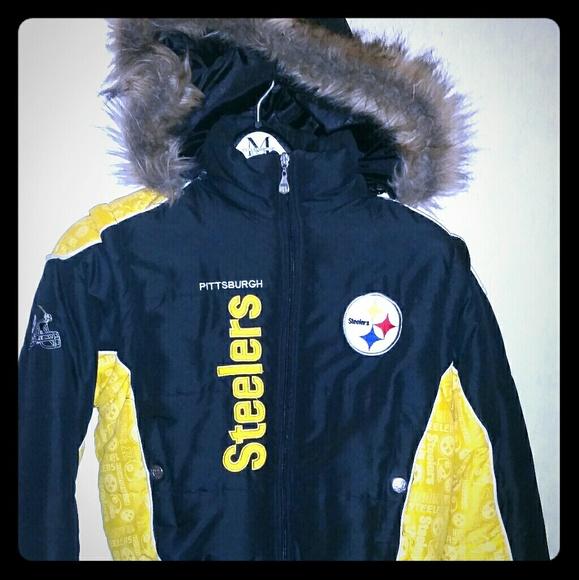 info for 62737 d8a0b Ladies Medium Steelers Bomber Jacket/Vest